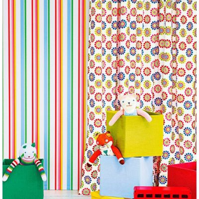 papel pintado infantil de Jane Churchill Disco Stripe