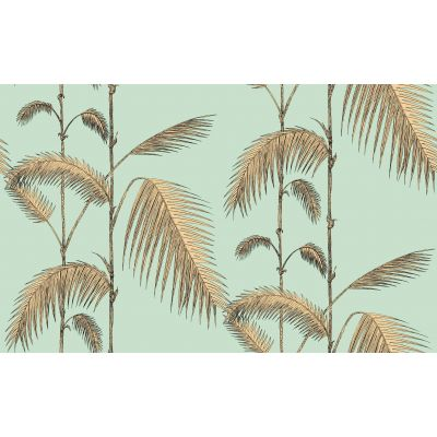 Papel pintado Palm Jungle oro aqua