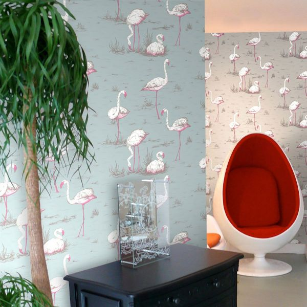 Papel pintado Flamingos