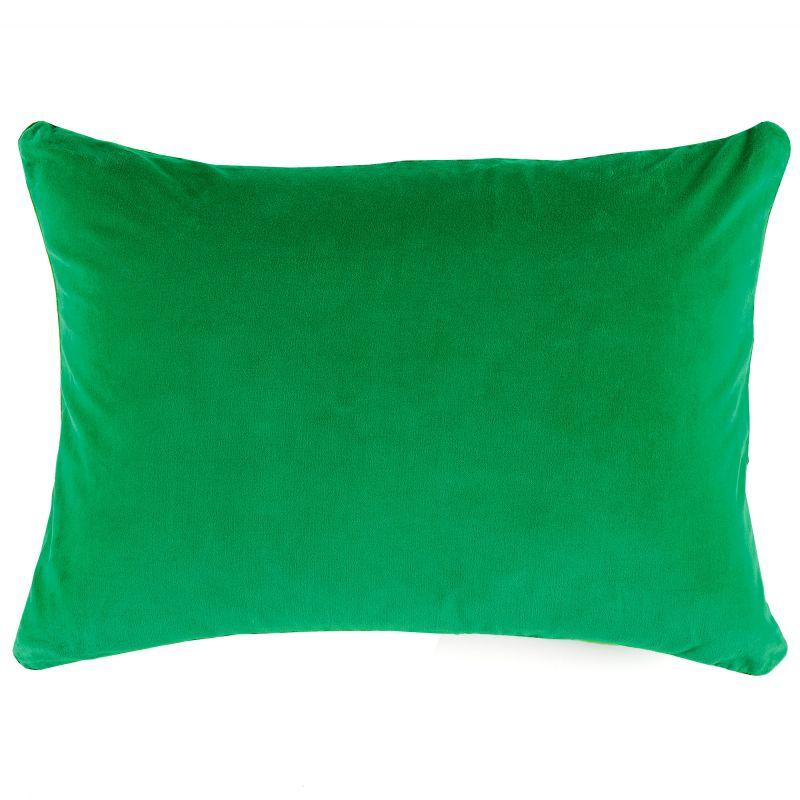 Cojín terciopelo verde esmeralda 60x40