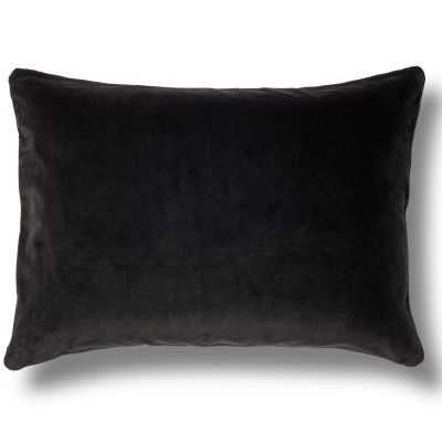 Cojín terciopelo negro 60x40