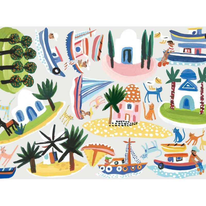 Island Hopping Wall Stickers