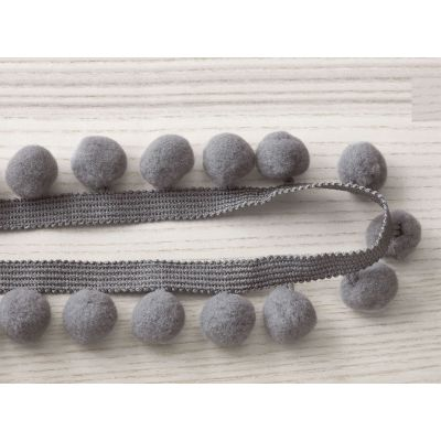 Pasamanería Pom Pom Braid Grey