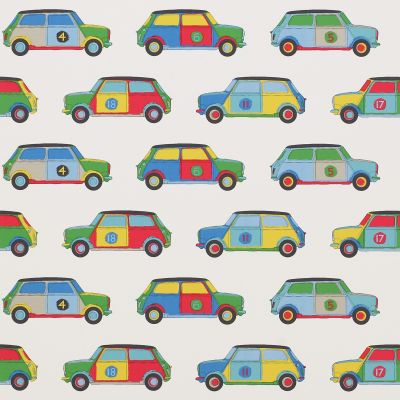 Papel pintado infantil de Jane Churchill Pop Cars